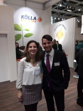 Representantes de PCTAD y Kölla en Fruit Logística- LIFE+ Freshbox