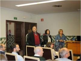 Jesús Val (Director de EEAD-CSIC), Susana Martínez (Directora de PCTAD) y Rosa Oria (UNIZAR) en el acto de apertura.