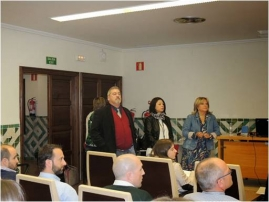 Jesús Val (Director of  EEAD-CSIC), Susana Martínez (Director of PCTAD) and Rosa Oria (UNIZAR) during the opening.