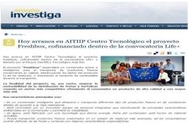 Hoy arranca en AITIIP Centro Tecnológico el proyecto Freshbox, cofinanciado dentro de la convocatoria Life+