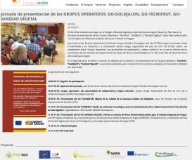 Jornada de presentación de los GRUPOS OPERATIVOS: GO-GOLDJALON, GO-TECNIFRUT, GO-SANIDAD VEGETAL